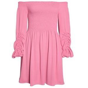 Kobi Halperin Dresses - Kobi Halperin Nina Off The Shoulder Dress in Tulip